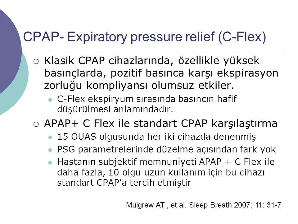 CPAP- Expiratory pressure relief (C-Flex)