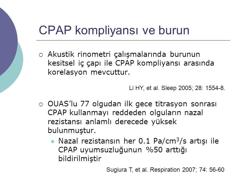 CPAP kompliyansı ve burun