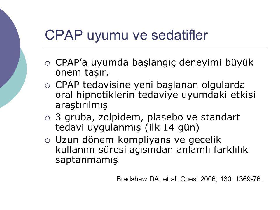 CPAP uyumu ve sedatifler