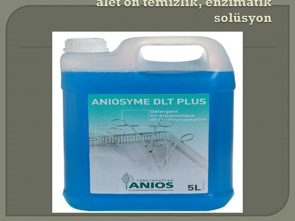 alet ön temizlik, enzimatik solüsyon