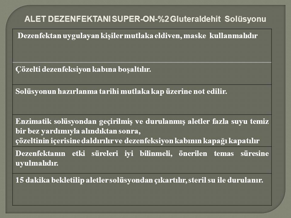 ALET DEZENFEKTANI SUPER-ON-%2 Gluteraldehit Solüsyonu