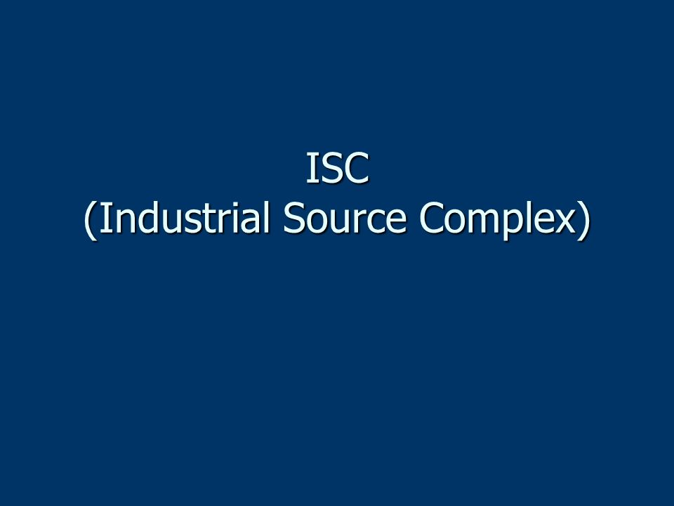 ISC (Industrial Source Complex)