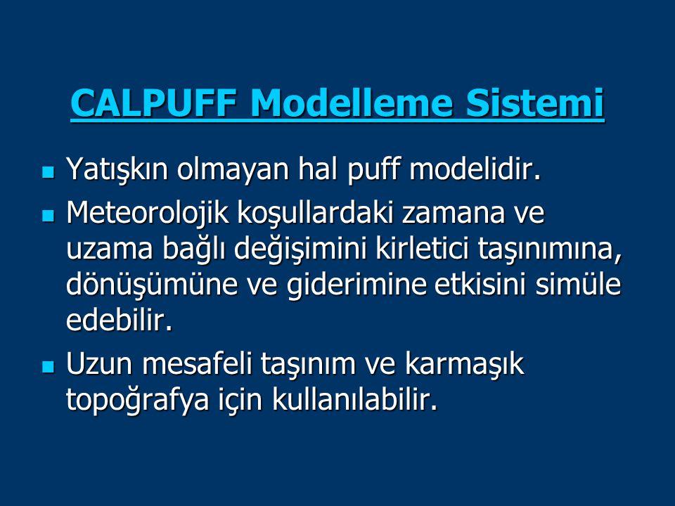 CALPUFF Modelleme Sistemi
