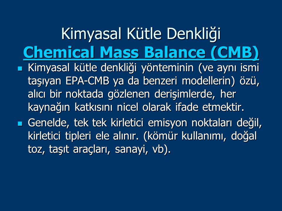Kimyasal Kütle Denkliği Chemical Mass Balance (CMB)