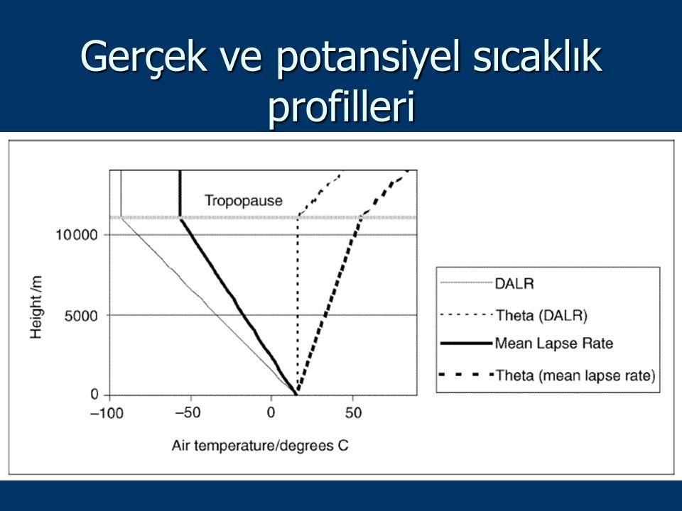 Gerçek ve potansiyel sıcaklık profilleri