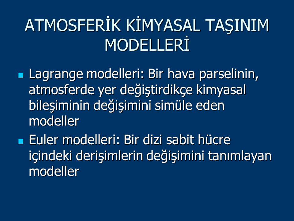 ATMOSFERİK KİMYASAL TAŞINIM MODELLERİ