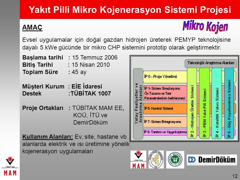 Yakıt Pilli Mikro Kojenerasyon Sistemi Projesi