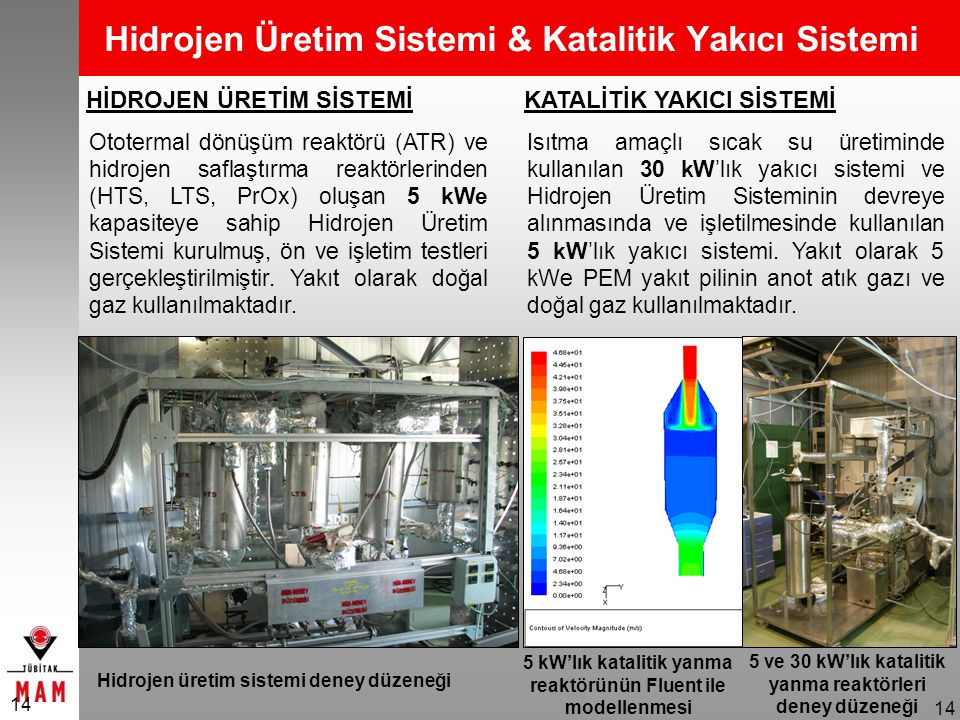 Hidrojen Üretim Sistemi & Katalitik Yakıcı Sistemi