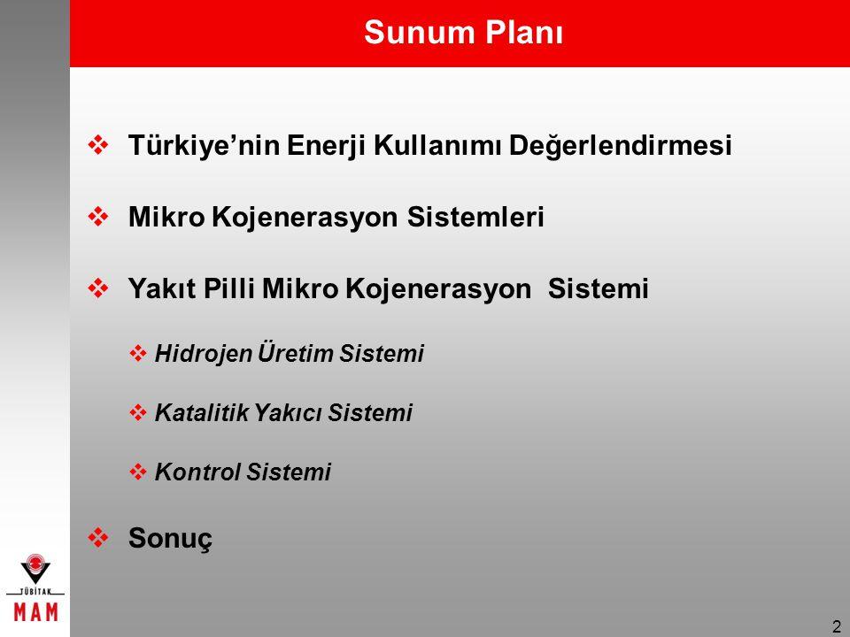 Sunum Planı Türkiye'nin Enerji Kullanımı Değerlendirmesi