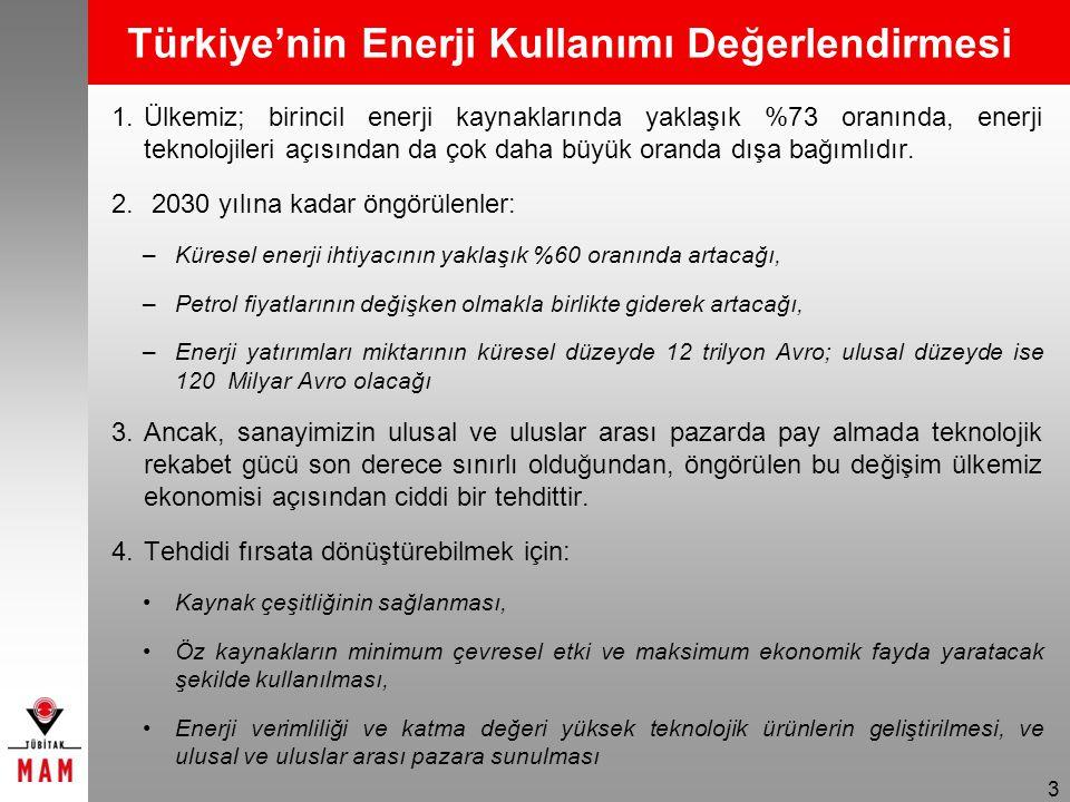 Türkiye'nin Enerji Kullanımı Değerlendirmesi