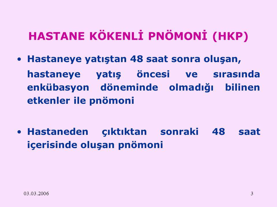 HASTANE KÖKENLİ PNÖMONİ (HKP)