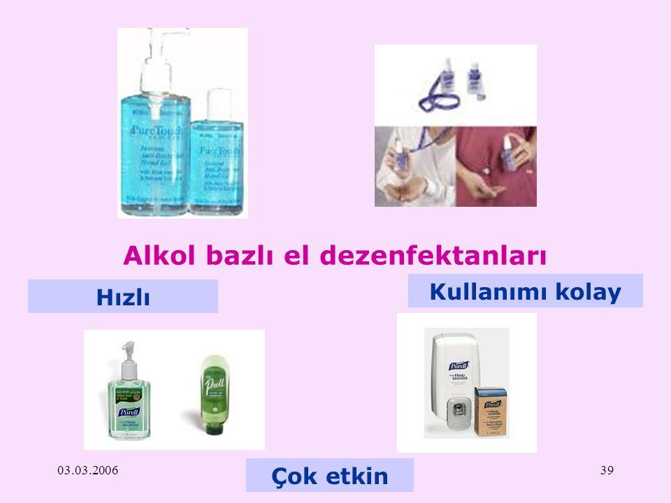 Alkol bazlı el dezenfektanları