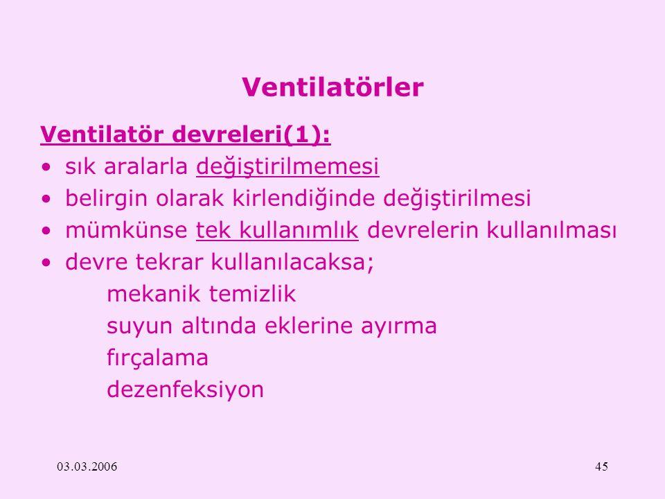 Ventilatörler Ventilatör devreleri(1): sık aralarla değiştirilmemesi
