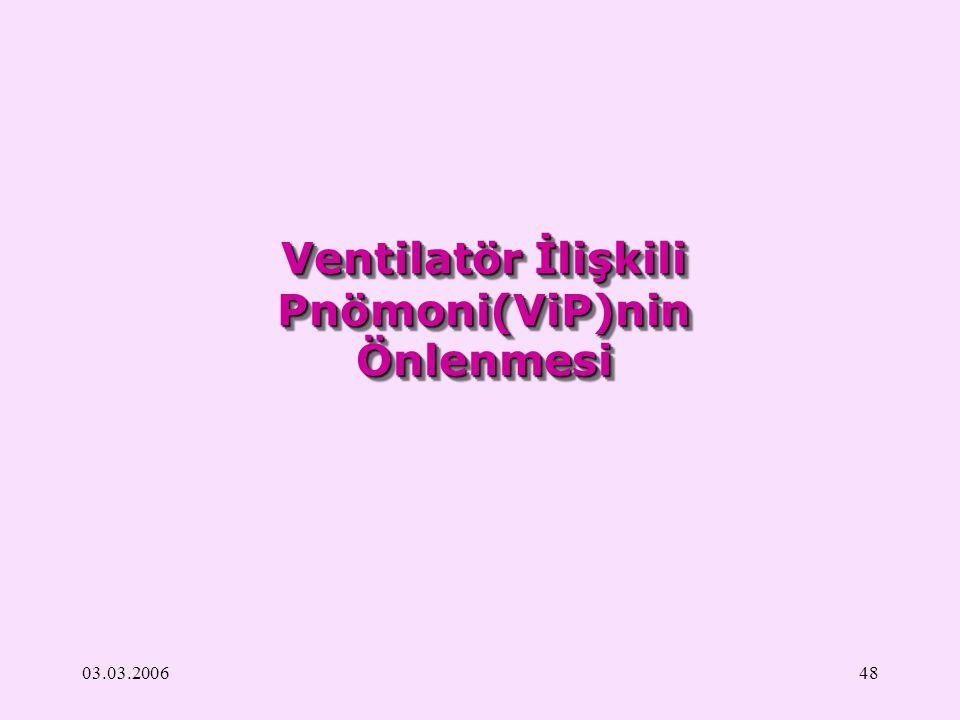 Ventilatör İlişkili Pnömoni(ViP)nin Önlenmesi