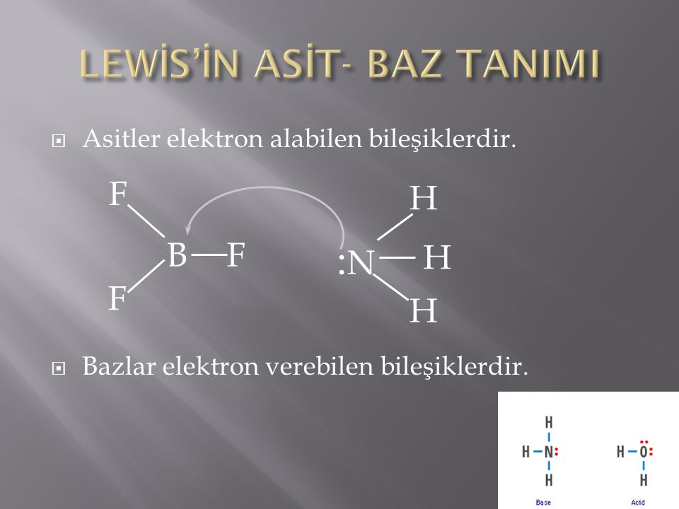 LEWİS'İN ASİT- BAZ TANIMI