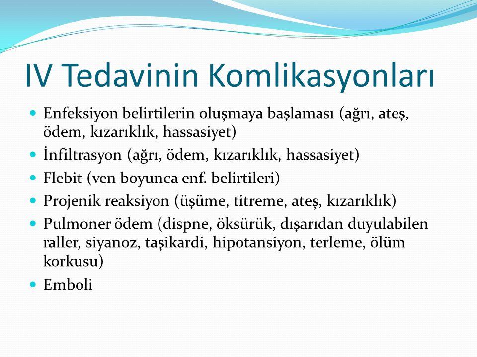 IV Tedavinin Komlikasyonları