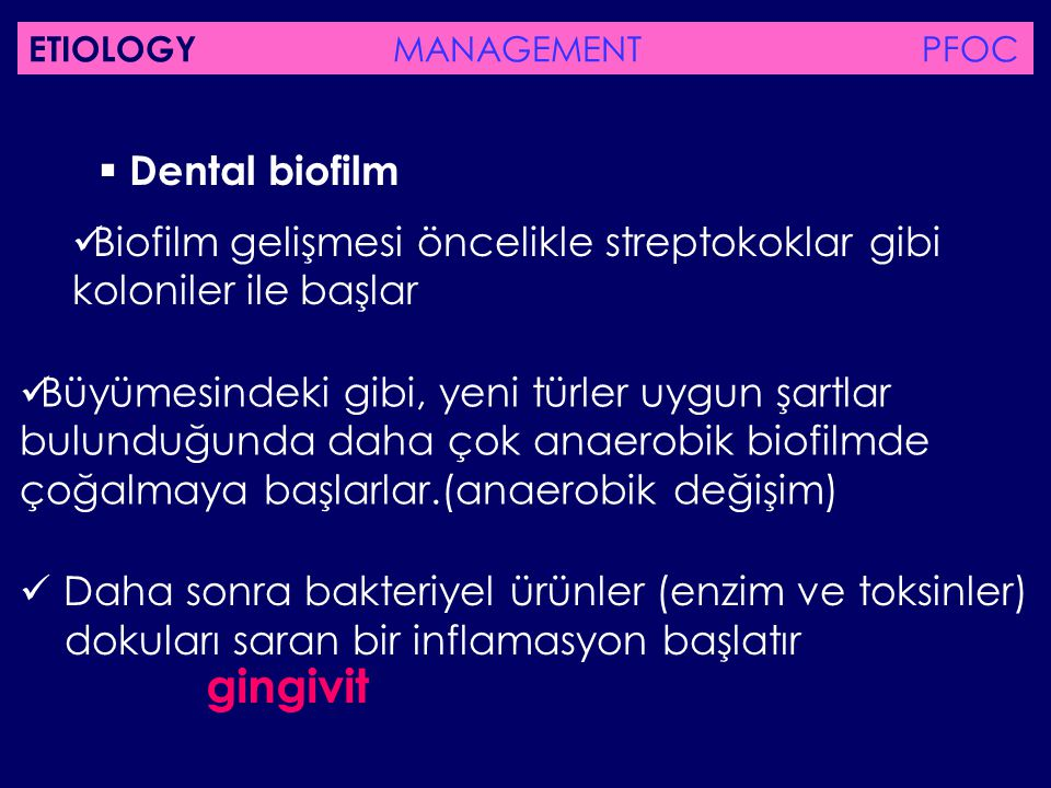 gingivit  Dental biofilm