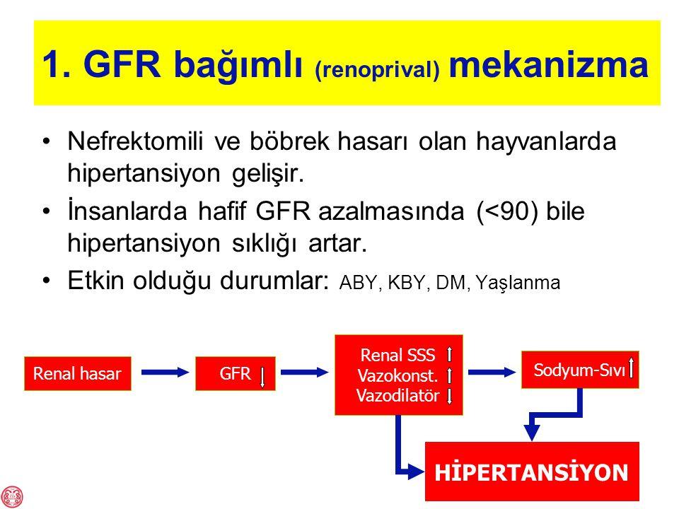 1. GFR bağımlı (renoprival) mekanizma