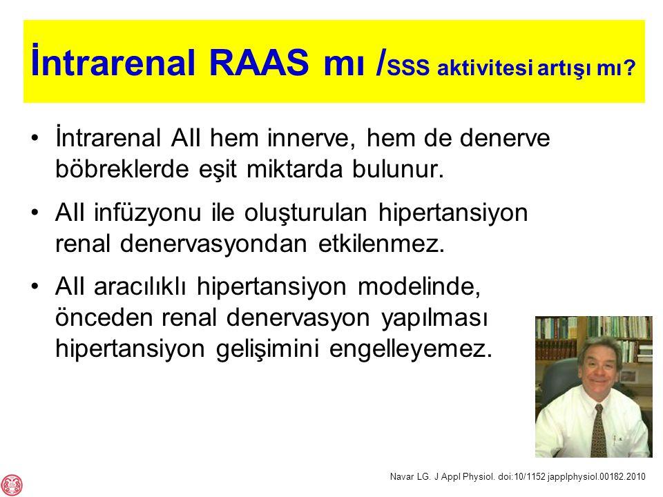 İntrarenal RAAS mı /SSS aktivitesi artışı mı