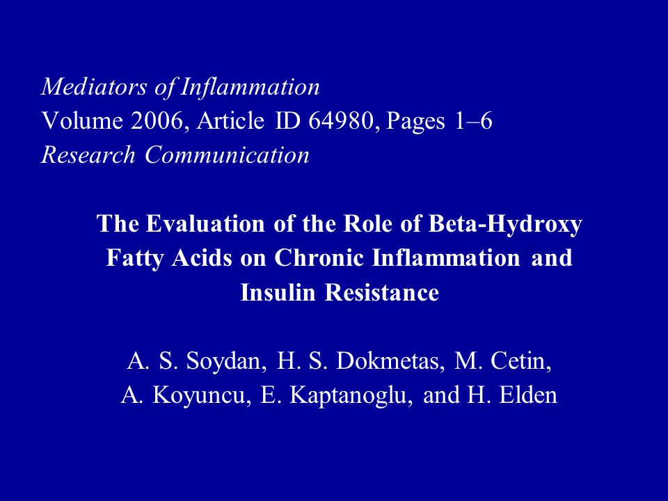 Mediators of Inflammation Volume 2006, Article ID 64980, Pages 1–6