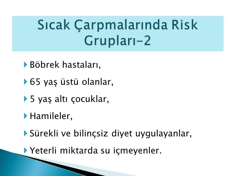 Sıcak Çarpmalarında Risk Grupları-2