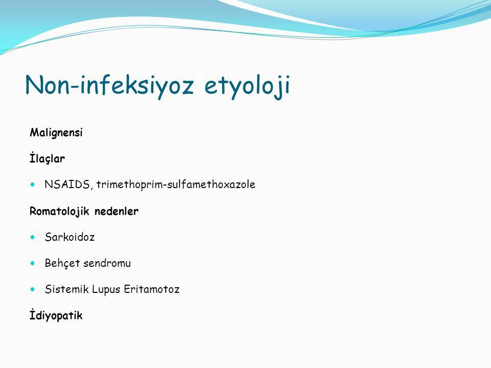 Non-infeksiyoz etyoloji