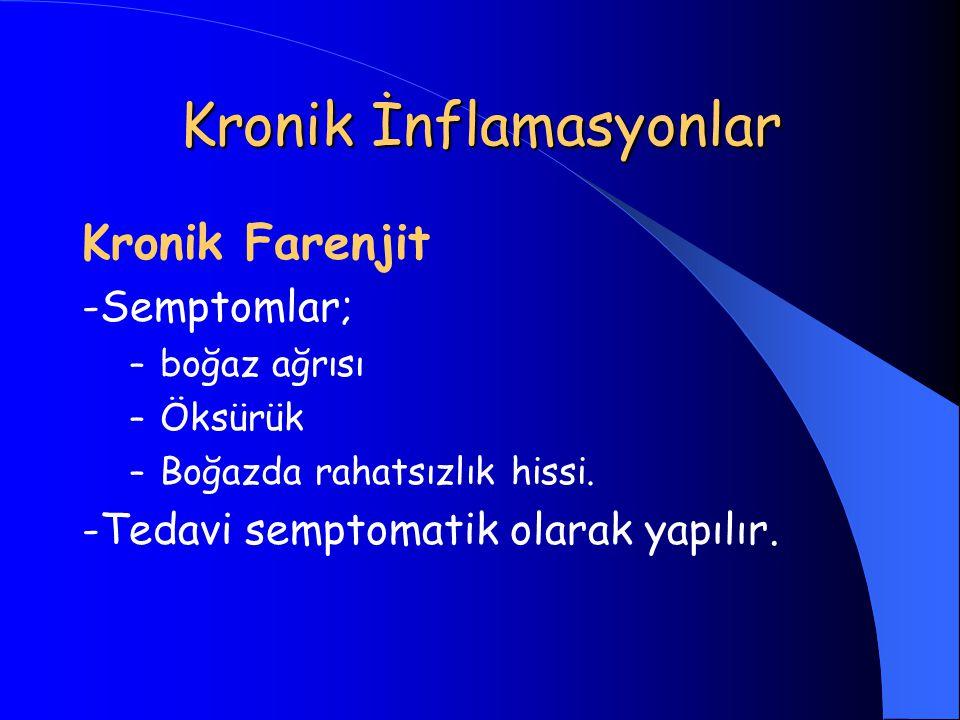 Kronik İnflamasyonlar
