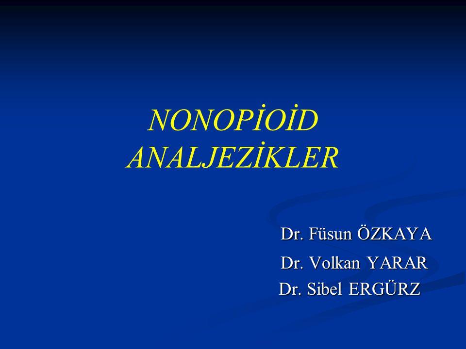 NONOPİOİD ANALJEZİKLER