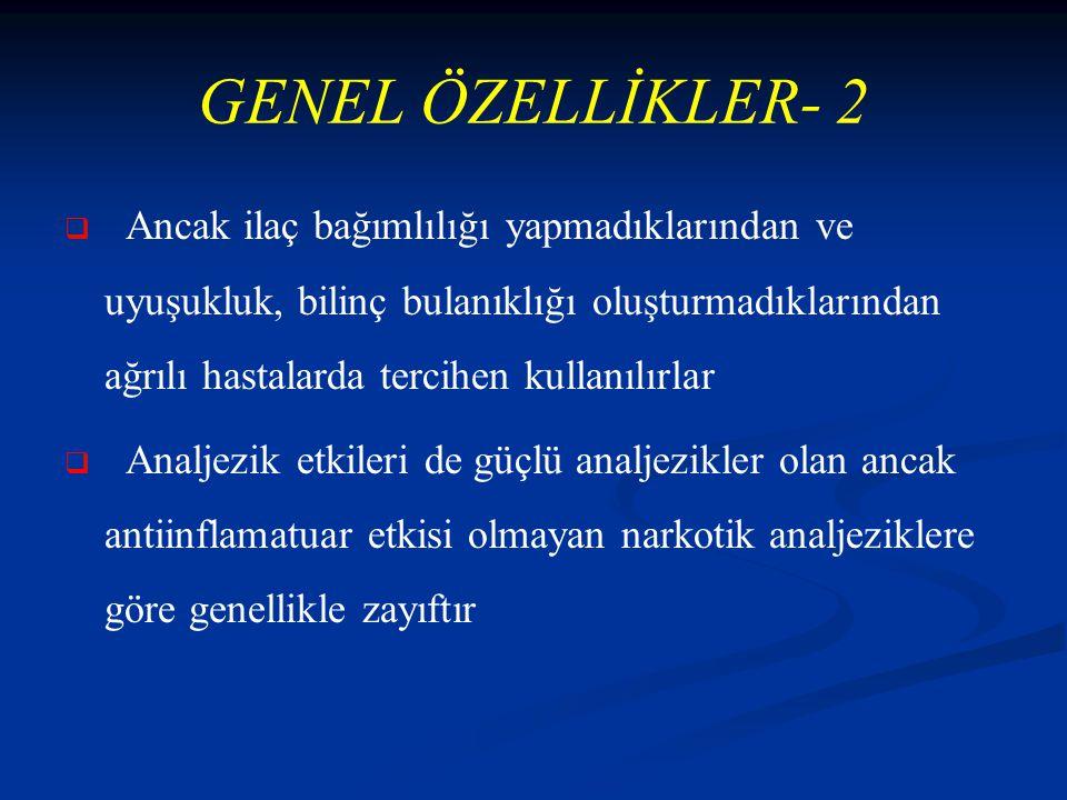 GENEL ÖZELLİKLER- 2