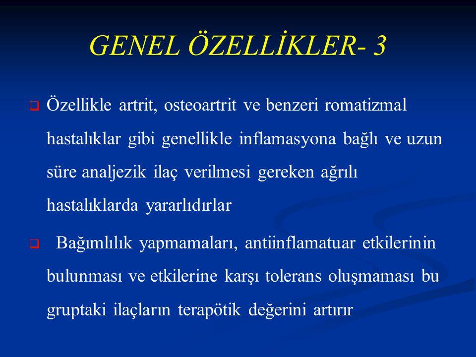 GENEL ÖZELLİKLER- 3