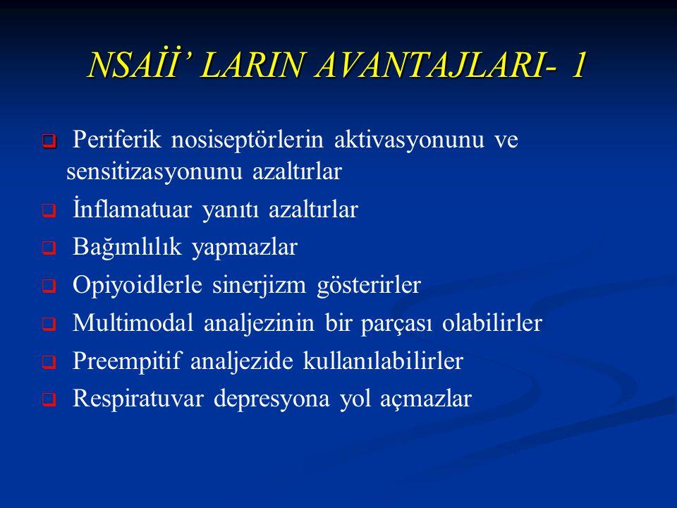 NSAİİ' LARIN AVANTAJLARI- 1