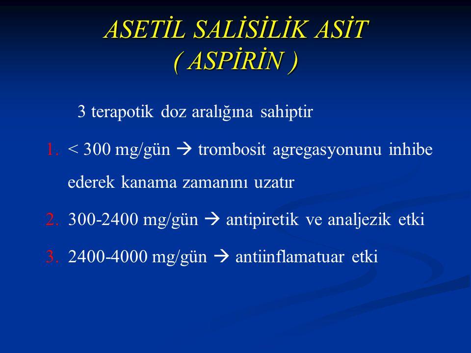 ASETİL SALİSİLİK ASİT ( ASPİRİN )