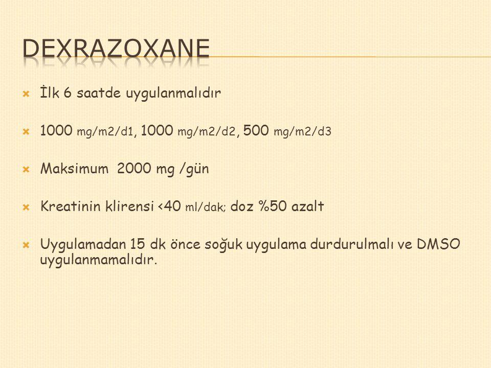 Dexrazoxane İlk 6 saatde uygulanmalıdır