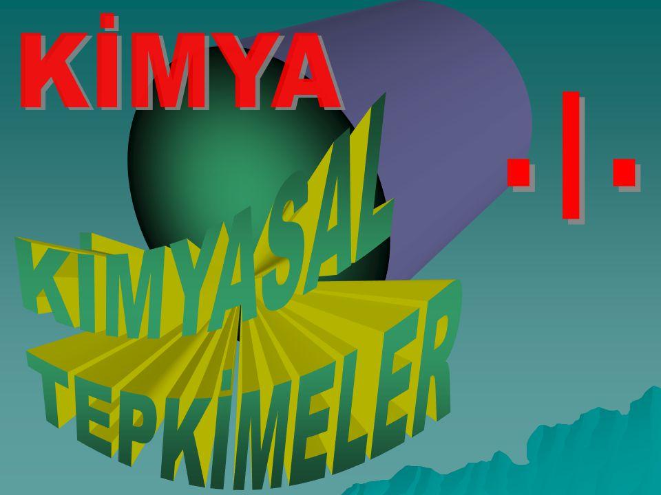 KİMYASAL TEPKİMELER KİMYA - I - www.kimyadersi.com