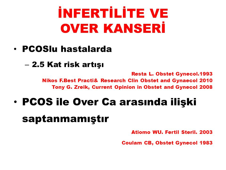 İNFERTİLİTE VE OVER KANSERİ