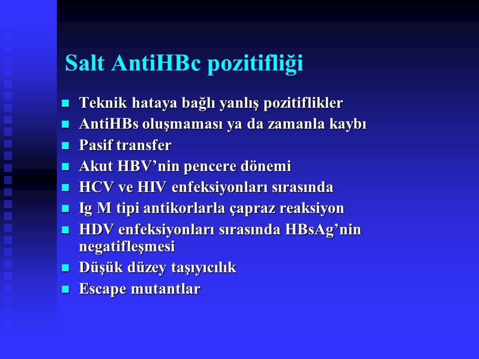 Salt AntiHBc pozitifliği