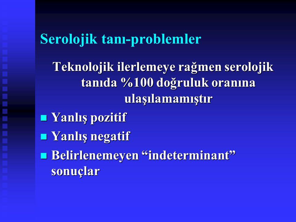 Serolojik tanı-problemler