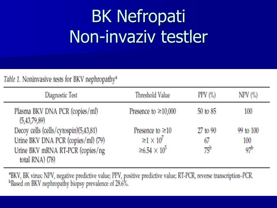 BK Nefropati Non-invaziv testler