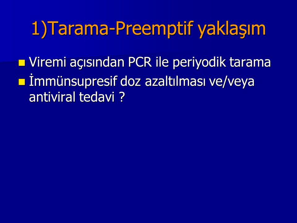 1)Tarama-Preemptif yaklaşım