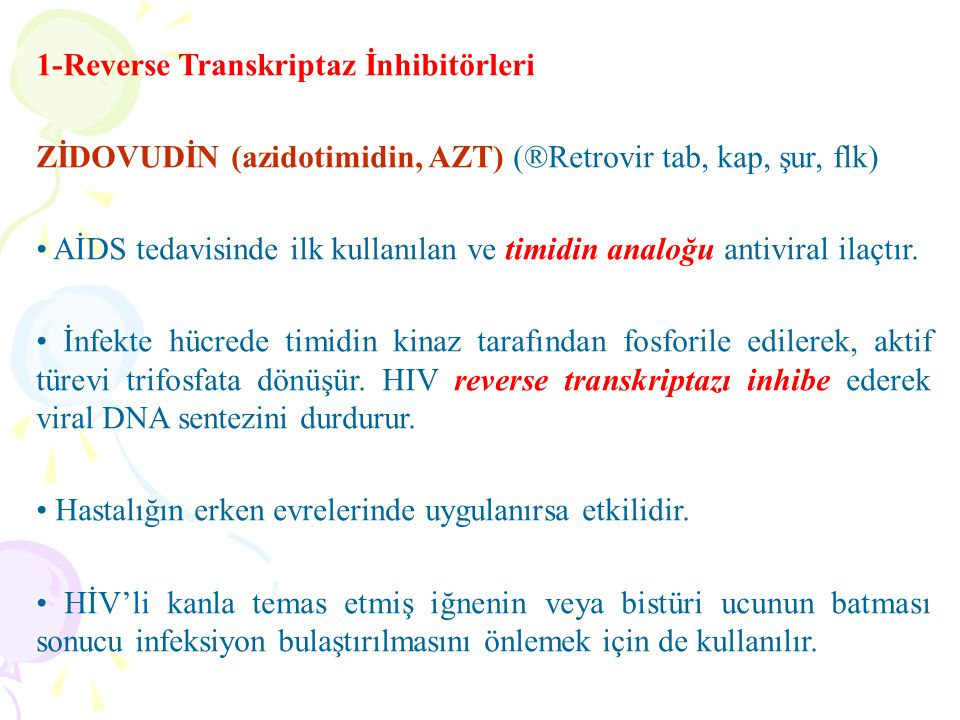 1-Reverse Transkriptaz İnhibitörleri