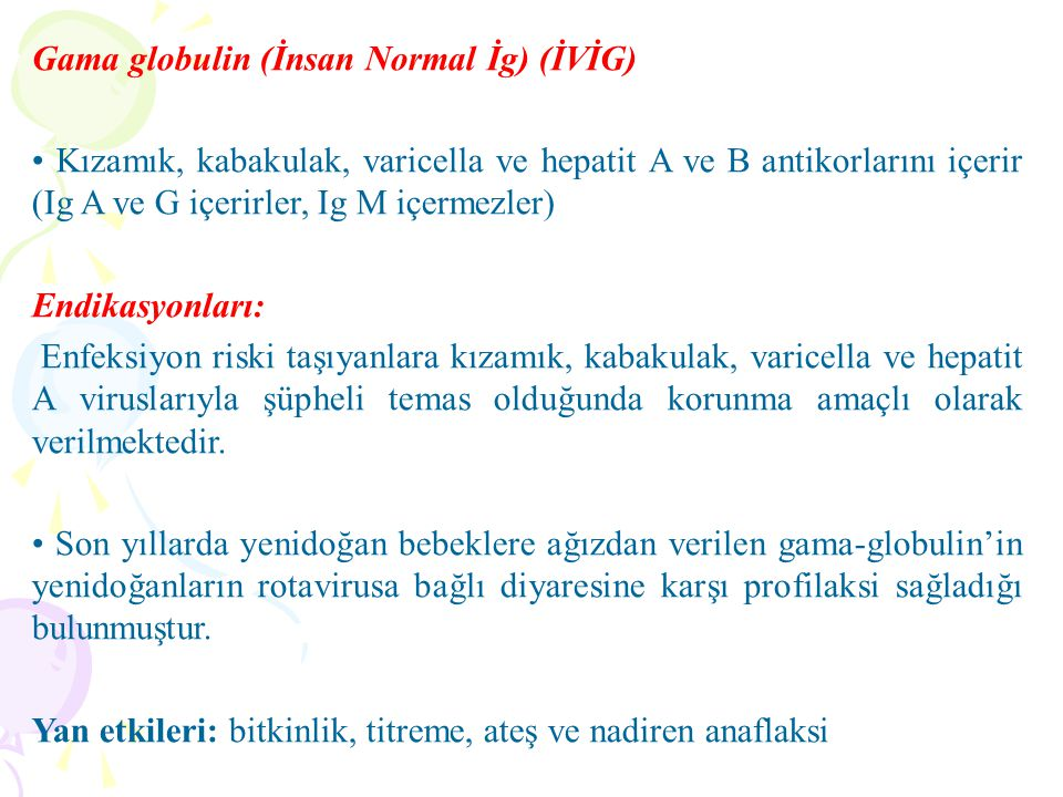 Gama globulin (İnsan Normal İg) (İVİG)