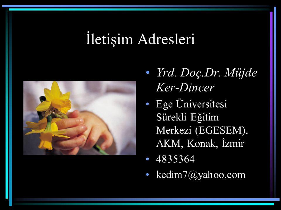 İletişim Adresleri Yrd. Doç.Dr. Müjde Ker-Dincer