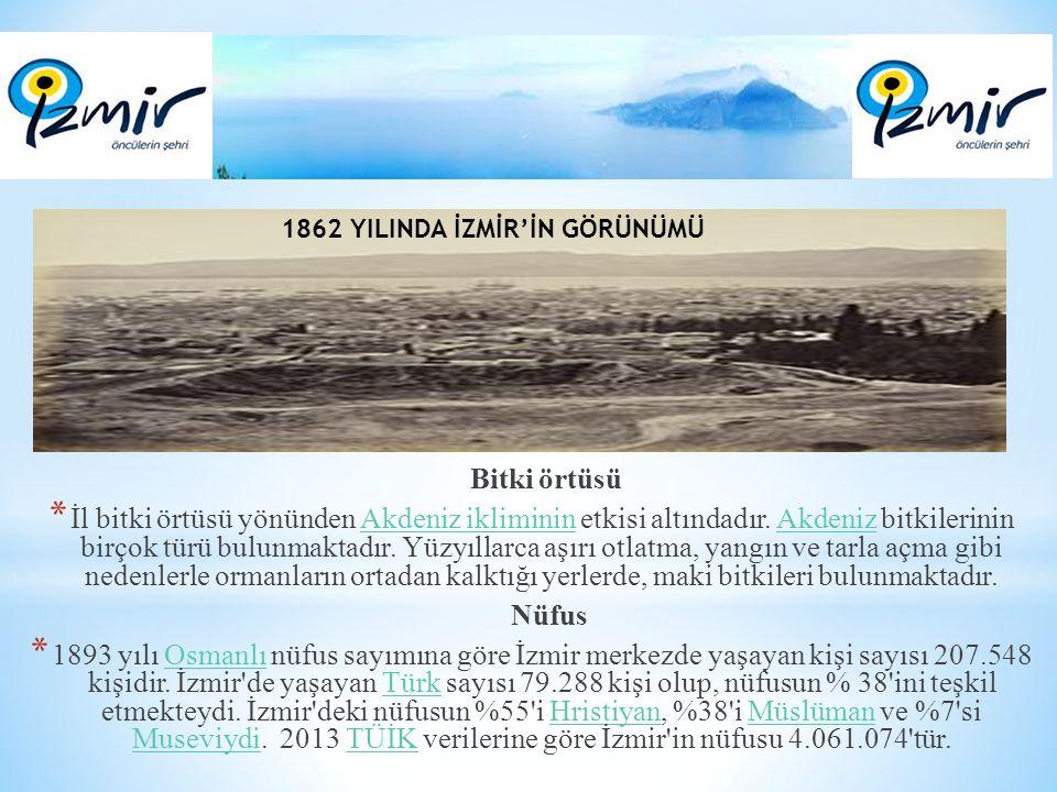 1862 YILINDA İZMİR'İN GÖRÜNÜMÜ