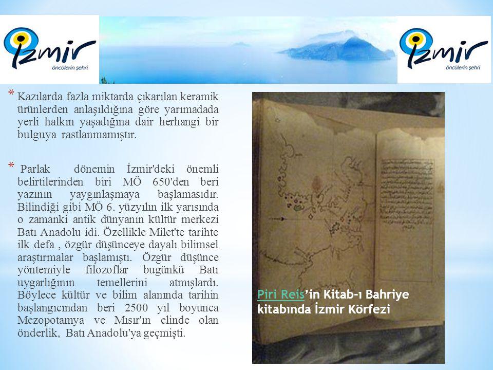 Piri Reis'in Kitab-ı Bahriye kitabında İzmir Körfezi