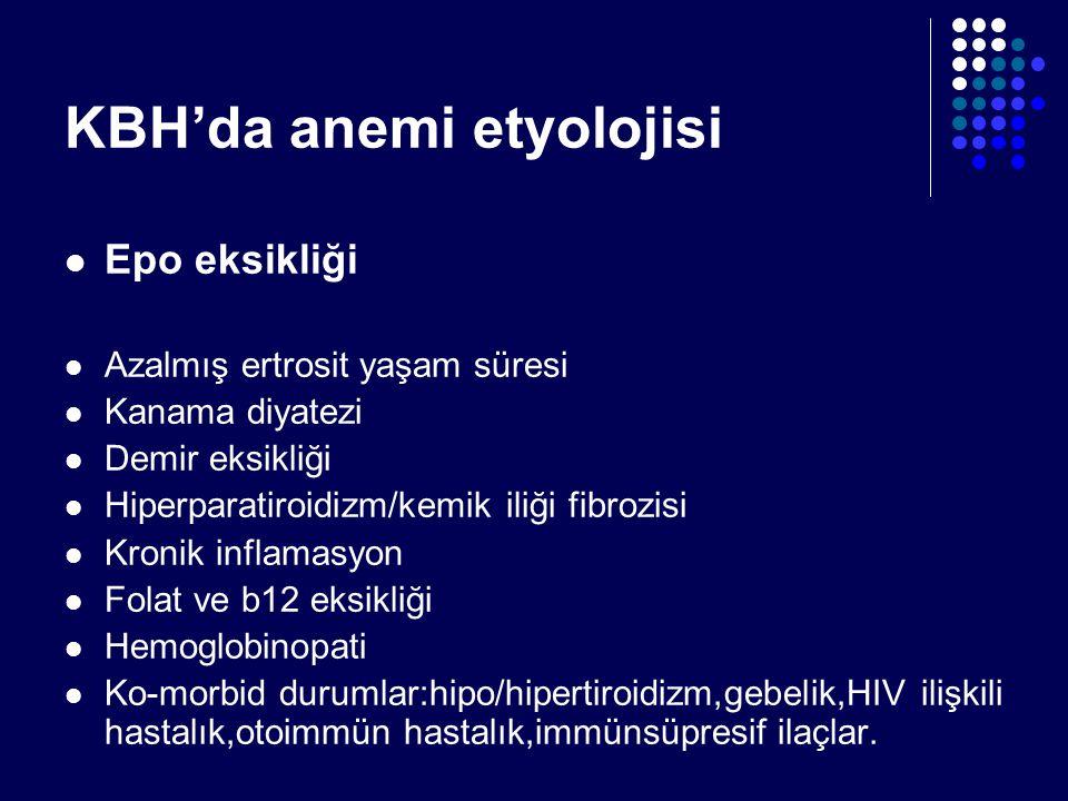 KBH'da anemi etyolojisi