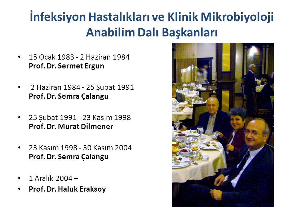 İnfeksiyon Hastalıkları ve Klinik Mikrobiyoloji Anabilim Dalı Başkanları