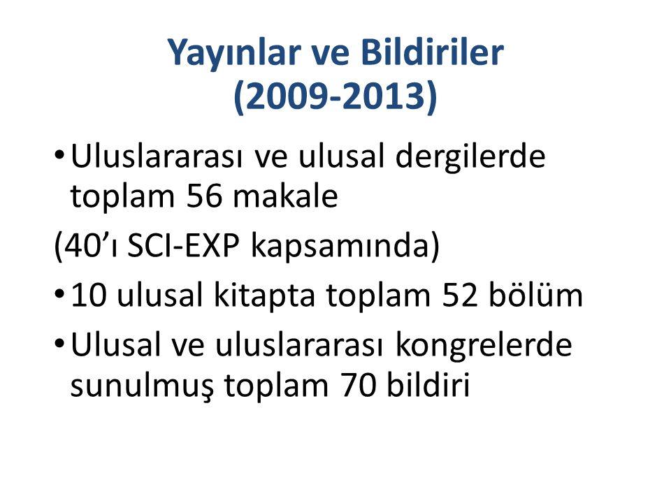 Yayınlar ve Bildiriler (2009-2013)