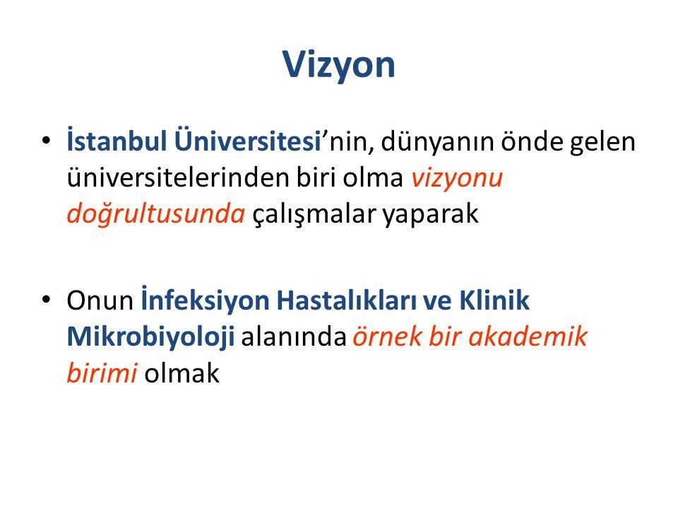 Vizyon İstanbul Üniversitesi'nin, dünyanın önde gelen üniversitelerinden biri olma vizyonu doğrultusunda çalışmalar yaparak.