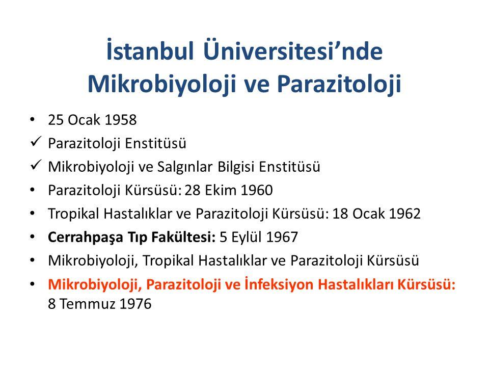 İstanbul Üniversitesi'nde Mikrobiyoloji ve Parazitoloji