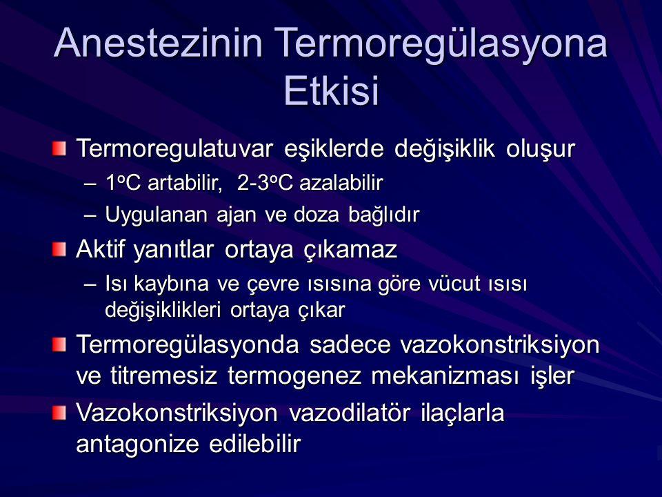 Anestezinin Termoregülasyona Etkisi